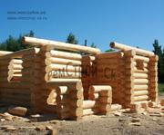 Строительство срубов домов и бань из леса Псковской области