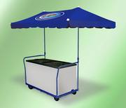 Тележка для уличной торговли,  торговая палатка,  торговый зонт,  стеллаж
