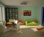 Дизайнер интерьера квартир,  загородных домов