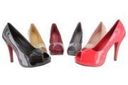 Лаковые выходные туфли разных цветов