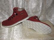 Женские зимние кожаные кроссовые ботинки