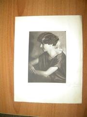 фотопортрет женщины- студия М. Наппельбаума с автографом автора,  1925г
