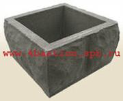 Заборы. Бетонные заборные блоки  Рубленый камень .Блок Столба  БС-30
