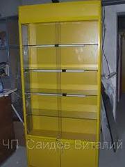 Витрины желтого цвета профиль б. у в наличие