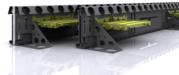 Несъемная опалубка Metalscreed для бетонного пола пивного склада
