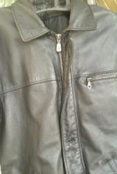 Куртка мужская ,  черная из натуральной кожи
