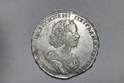 Редкая монета полтина 1724 г. с двойной ошибкой на гурте - ПОЛТИNNИК