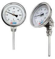 Термометр биметаллический (нерж.) МЕТЕР ТБ-5 80мм шток 40мм