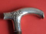 Антикварная трость с серебряной рукоятью. Орнамент. Начало 1900-х гг.