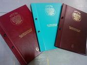 Папки дипломные,  обложки дипломов докторов,  кандидатов