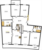 6-комнатная квартира на берегу Финского залива