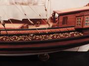 Модель корабря ручной работы. Голландская яхта 17 века