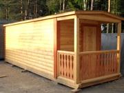 Строим и доставляем каркасные перевозные бани и бытовки