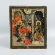 Подписная икона Рождества Пресвятой Богородицы. Россия,  XVIII век.