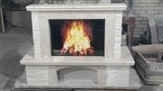 Каминный портал из мрамора Fiore Beige