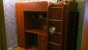 Кровать-чердак с рабочем местом для ребенка