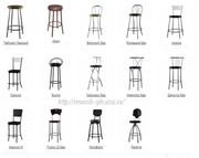 Барные стулья,  металлокаркс.