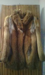 Шуба из лисы ручной работы,  пр-во Чехия