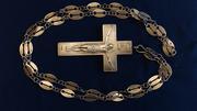 Наградной наперсный павловский крест.  Серебро. Москва,  1907-1917 гг.