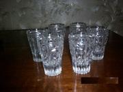 Хрустальные стаканы 17шт
