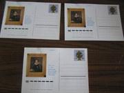 7 почтовых карточек 175лет со дня рождения Пушкина
