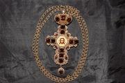 Оригинальный наперсный крест с украшениями авторской работы. Россия, XX