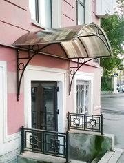 Купить готовый козырёк над входом в СПб дешево со склада производителя