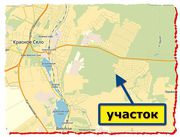 Участок,  Красное Село,  5 км Пушкинского шоссе,  СНТ Здоровье-3