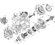 Запчасти для гидронасоса Kawasaki K3V180 (K3V180DT)