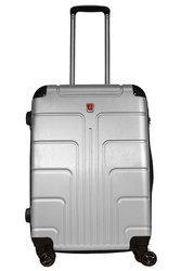 Неубиваемый пластиковый чемодан – Серебристый
