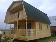 Строительство домов из профелированного бруса.