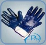 Перчатки МБСнитрил,  синие
