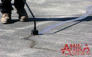 Заливка трещин на стоянке