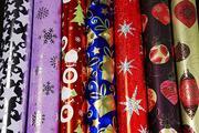 Новогодние пакеты,  упаковочная бумага,  открытки,  бантики,  буклеты